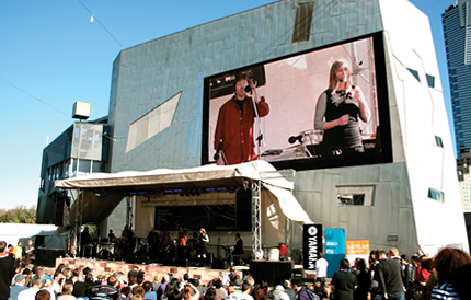 Performance at Federation Square